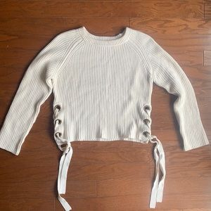 Bishop & Young | White Chunky Knit Sweater L